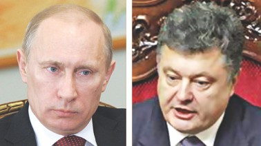 Vladimir Putin......................Petro Poroshenko