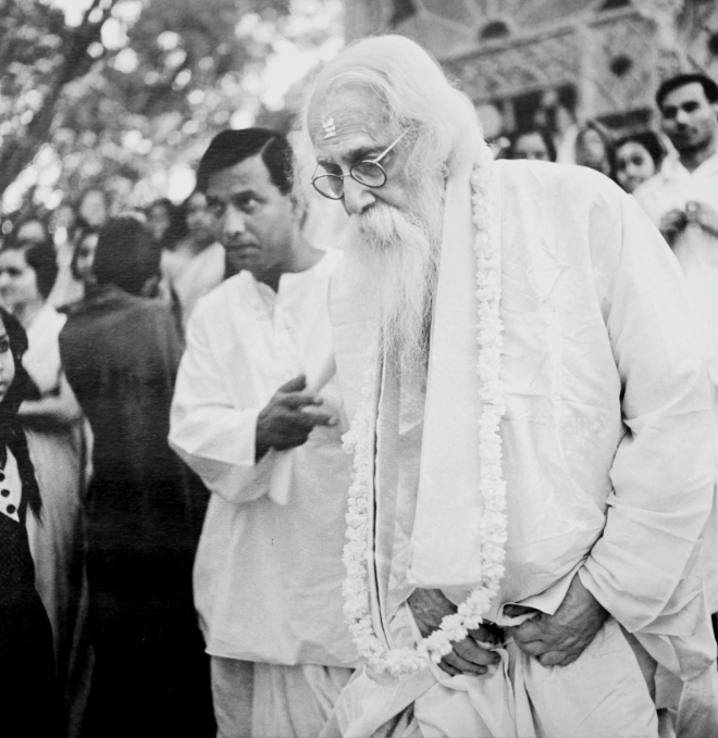 Rabindranath Tagore's birthday, 1937. Photo Courtesy: Shambhu Shaha