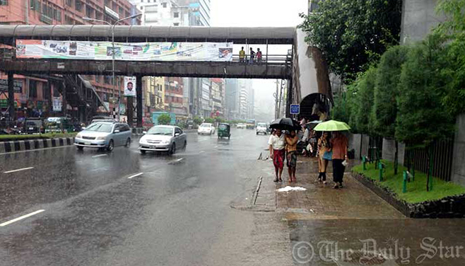 Dhaka suffers monsoon effect