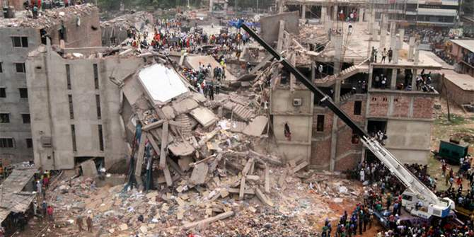 The Rana Plaza factory collapse on April 24, 2013 was the worst garment disaster in history, leaving 1,131 dead and many hundreds with devastating injuries. Photo: Star