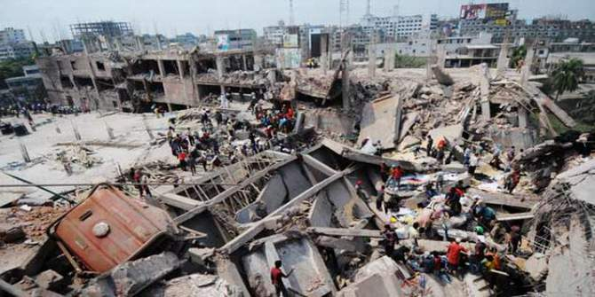 The Rana Plaza factory collapse on April 24, 2013 was the worst garment disaster in history, leaving more than 1,100 dead and many hundreds with devastating injuries. Photo: STAR
