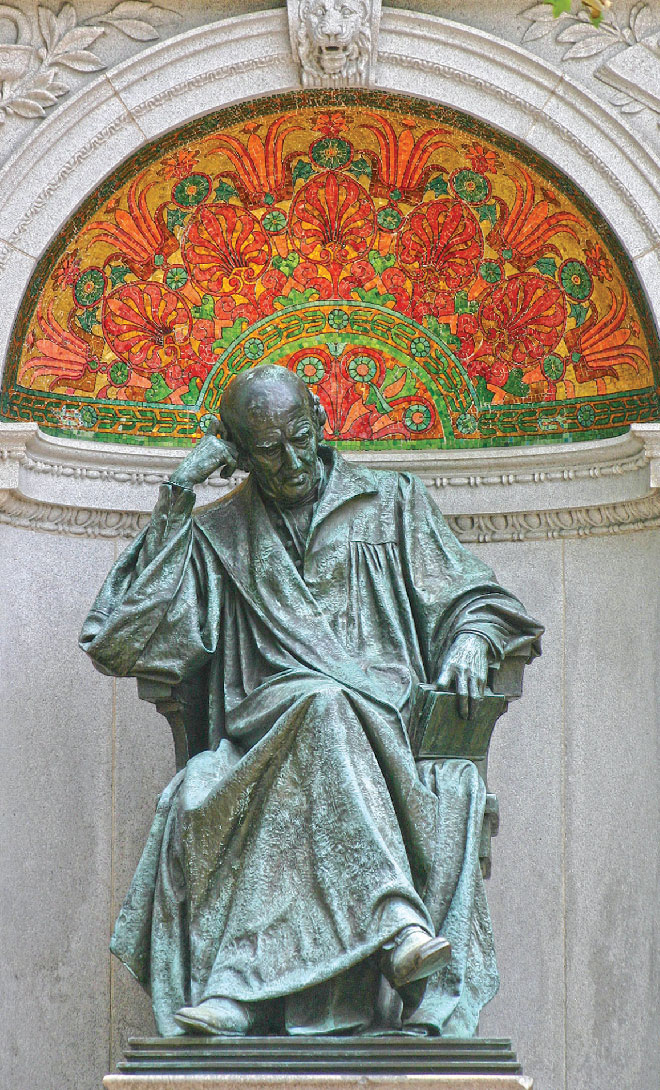 Samuel Hahnemann Monument at Scott Circle, Washington, DC. Photo courtesy: wikipedia