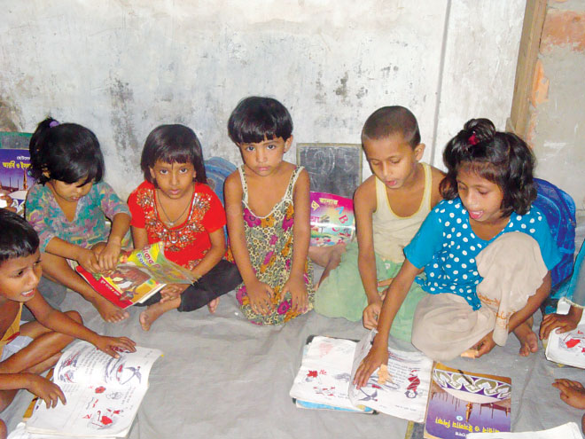 With the collected zakat CZM also ensures education and nutrition for the poor and destitute children. Photo Courtesy: CZM
