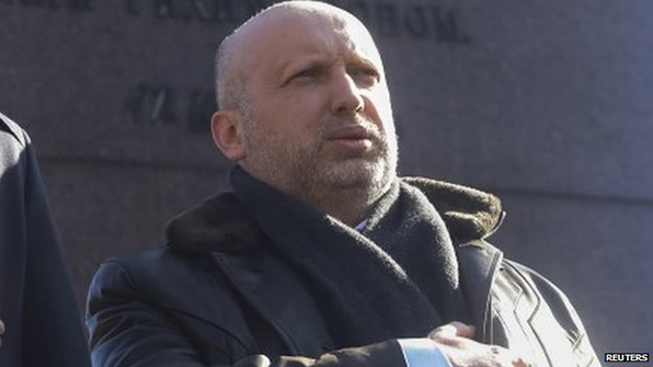 President Turchynov said that Russia was refusing all contact at foreign ministry and top government level