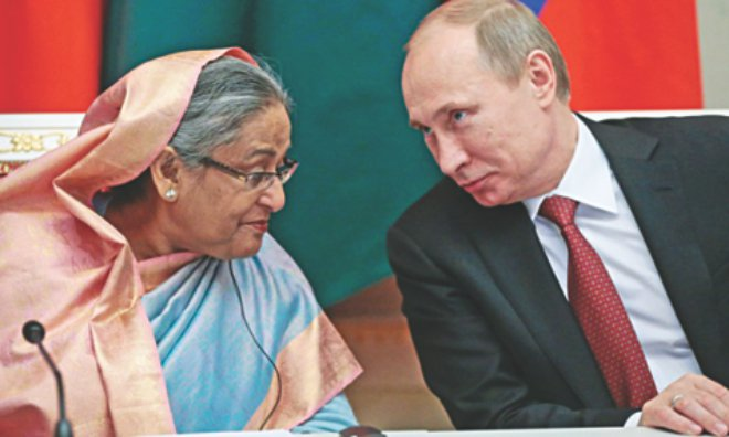 Russian President Vladimir Putin on January 15 met the prime minister of Bangladesh for talks that included the signing of a $1 billion arms contract. Bangladesh's biggest ever arms contract since Independence.