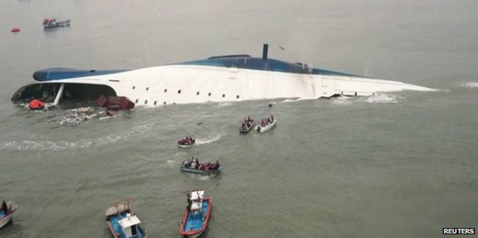 Only 172 people escaped from the Sewol as it sank on 16 April