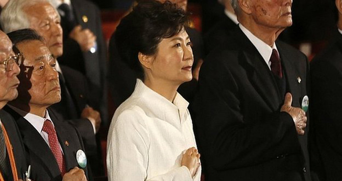 President Park was marking the 1919 uprising against Japanese colonial rule. Photo: AP