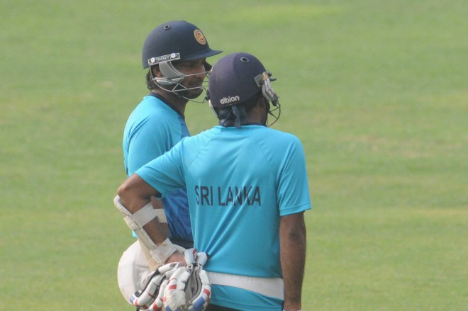 Kumar Sangakkara (L) and Mahela Jayawardene will sign off from the shortest version of the game today. And it remains to be seen if the two most exciting components of the game can lay their hands on any global silverware that has eluded them on four previous occasions including two ICC World T20 finals. Photo: Star