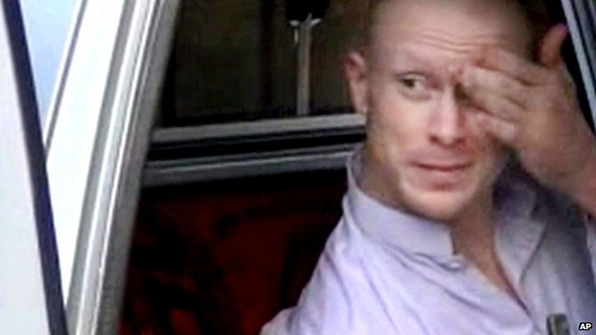 Images have emerged of Sgt Bergdahl release on Saturday