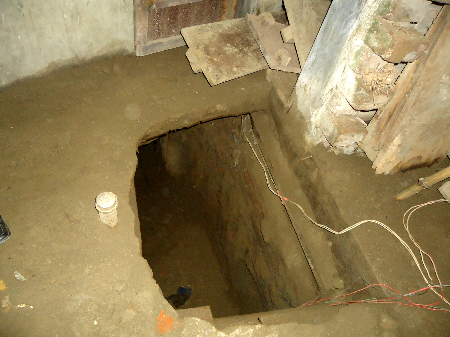 Robbers took away Tk 16.40 crore by digging a tunnel into the bank's vault in Isa Khan Road of Rathkhola area in the district town.  Star file photo