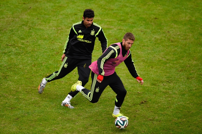 Will Spain's Sergio Ramos (R) carry his stellar Champions League form to the showpiece event in the Brazil? PHOTO: GETTY IMAGES
