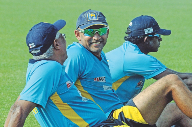 While the Tigers opted to stay indoors, the Sri Lankans enjoyed the glorious sunshine at the Sher-e-Bangla National Stadium yesterday, a day after their great Houdini act in the first one-dayer on Monday. Photo: Star
