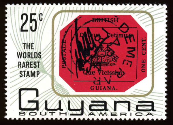 British Guiana is regarded as one of the rarest and most expensive stamps in the world which is estimated to be sold at a record auction price of $US10 - $US20 million.