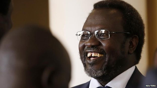 Riek Machar was accused of plotting a coup, which he denied