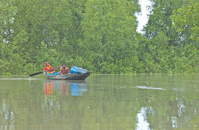 Rising sea level: Threat to the Sundarbans.
