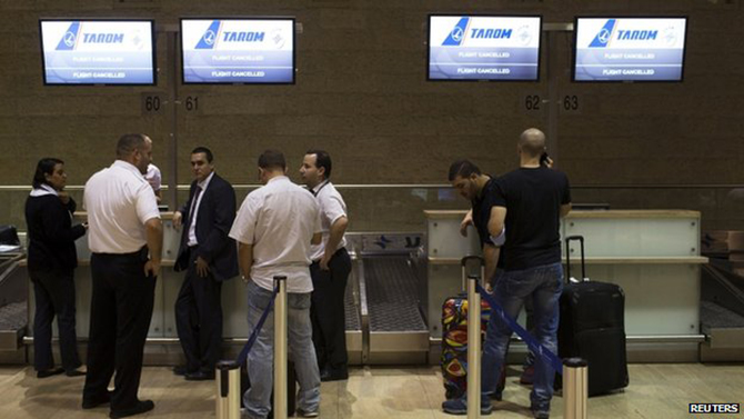The abrupt flight cancellations in Tel Aviv have left some passengers stranded