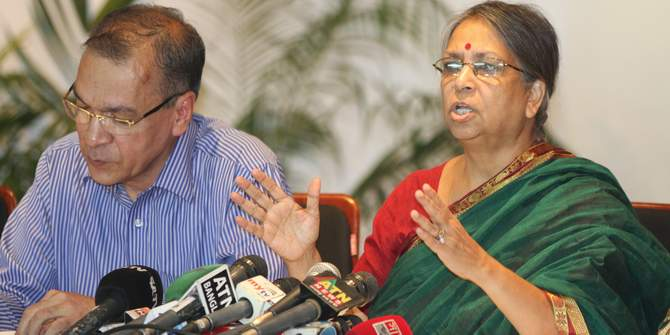 In this July 7 photo, Transparency International Bangladesh (TIB) Chairman Sultana Kamal speaks at a press conference at Brac Inn Centre in the capital.