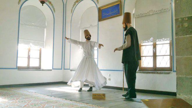 Likeness of a trainee whirling dervish, Konya. Photo: Adnan R Amin