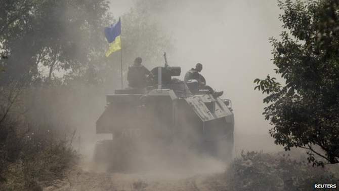 Ukrainian government forces pounded rebel-held Donetsk with artillery over the weekend. Photo: Reuters