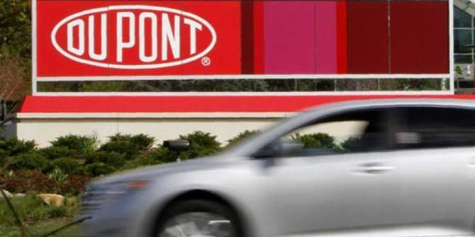 A view of the Dupont logo on a sign at the Dupont Chestnut Run Plaza facility near Wilmington, Delaware, April 17, 2012. Photo: Reuters