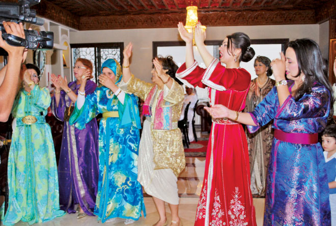 Bride's relatives dancing in joy on mehendi day. Photo courtesy of Dr. Sultan Ahmed