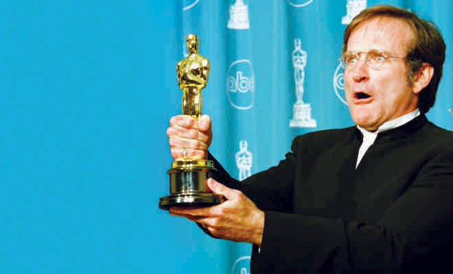 In high school, Robin Williams was voted by his classmates as the
