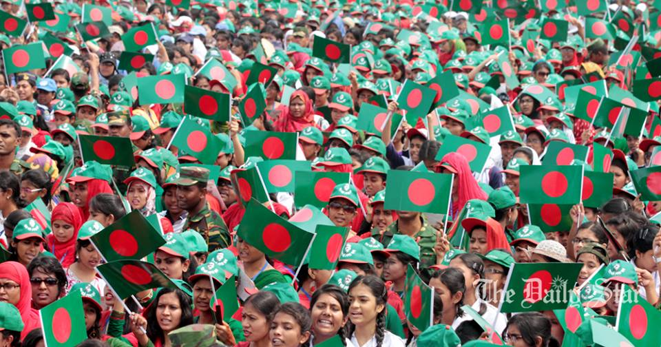 STAR file photo of the event 'Lakho Konthe Shonar Bangla' on March 26, 2014 at the National Parade Ground in the capital