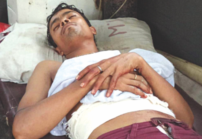 Shahidul in hospital. Photo: Star