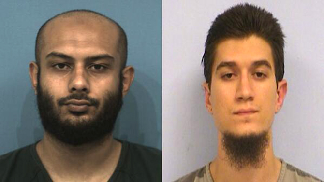Rahatul Ashikim Khan and Michael Todd Wolfe. Photo: Austin Police Department
