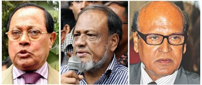 L-R: Moudud Ahmed, Rafiqul Islam Mia and Khandaker Mahbub Hossain