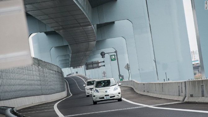 Nissan is hoping its driverless cars will be on the road in France by 2020. Photo taken from CNN.com