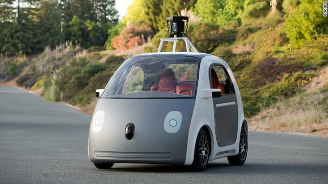 Google is testing out a prototype that will enable fully autonomous driving. Photo taken from CNN.com