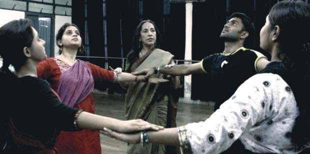 Minu Haque giving instructions to her troupe members. Photo: Zahedul I Khan