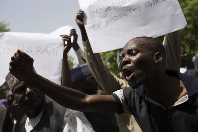 School teachers take part in a rally to call for the release of abducted schoolgirls held by Boko Haram and to demand better security in Maiduguri May 22, 2014. Photo: Reuters