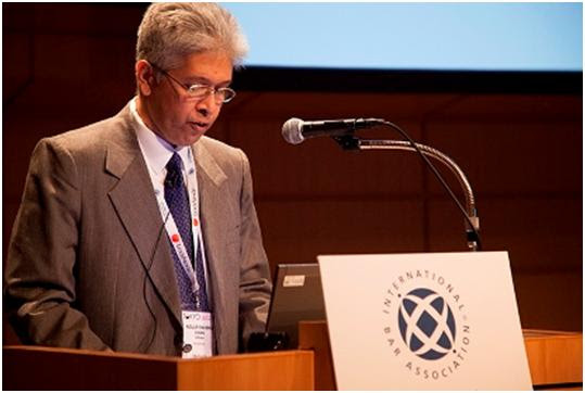 Adilur Rahman Khan addresses weeklong IBA annual conference in Tokyo, Japan ended on Friday. Photo: AHRC Press Centre