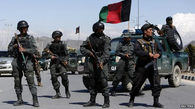 With international troops withdrawing this year, Afghan forces are taking the lead in security operations. Photo taken from BBC