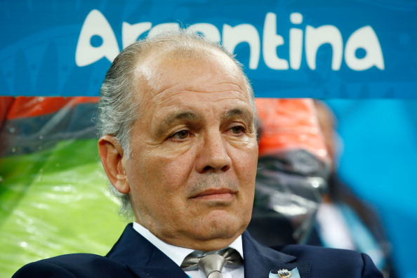Head coach Alejandro Sabella of Argentina looks on during the 2014 Fifa World Cup Brazil Semi Final match between the Netherlands and Argentina at Arena de Sao Paulo on July 9, 2014 in Sao Paulo, Brazil. Photo: Getty Images