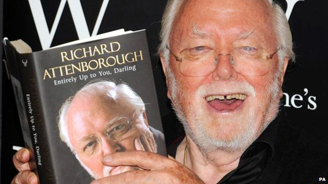 Lord Attenborough's autobiography was published in 2008. This photo is taken from BBC website