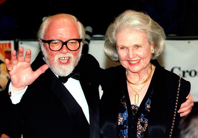Richard Attenborough arrives at the Royal premiere of his film