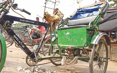 A battery-run rickshaw