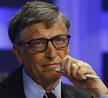 Microsoft founder Bill Gates attends a session at the annual meeting of the World Economic Forum (WEF) in Davos in this file photo from January 24. Photo: Reuters