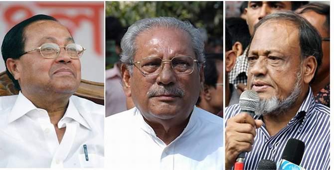 L-R: Moudud Ahmed, MK Anwar, Rafiqul Islam Mia