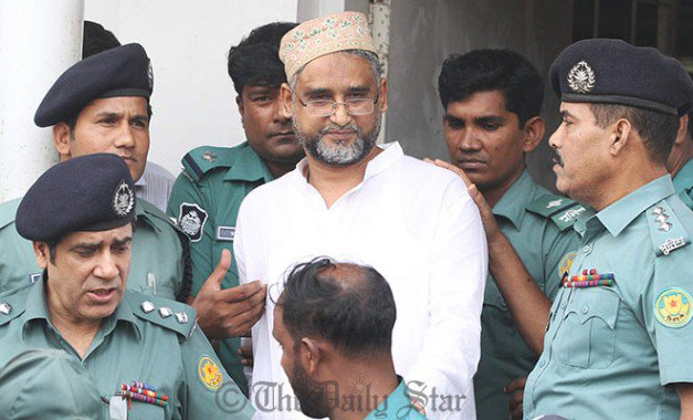 The Star file photo shows law enforcers bring out former BNP lawmaker Nasiruddin Ahmed Pintu from a court in Dhaka.