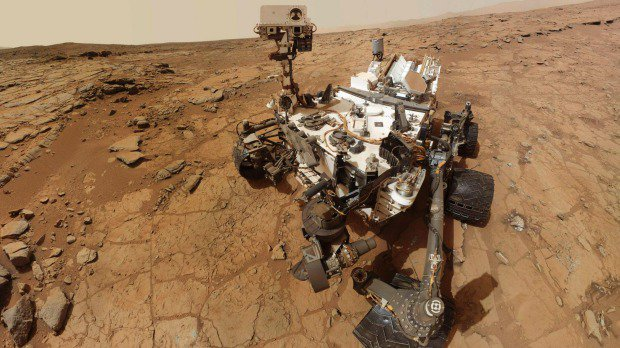 Nasa's Curiosity rover exploring Mars in February, 2013. Photo: NASA