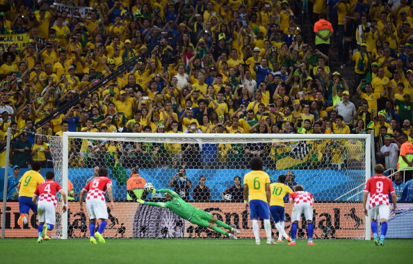 Neymar of Brazil takes a penalty kick against Stipe Pletikosa of Croatia during the 2014 FIFA World Cup Brazil Group A match between Brazil and Croatia at Arena de Sao Paulo on June 12, 2014 in Sao Paulo, Brazil. Photo: Getty Images
