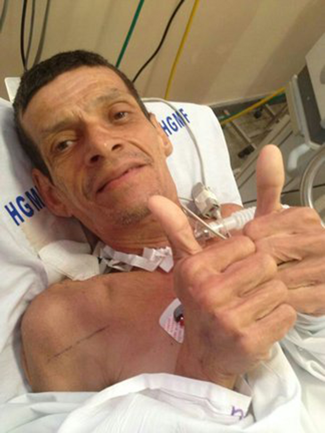 The man managed to survive his 'premature passing despite suffering respiratory failure and multiple organ failure and being pronounced dead by doctors. Photo taken Correio 24 Horas