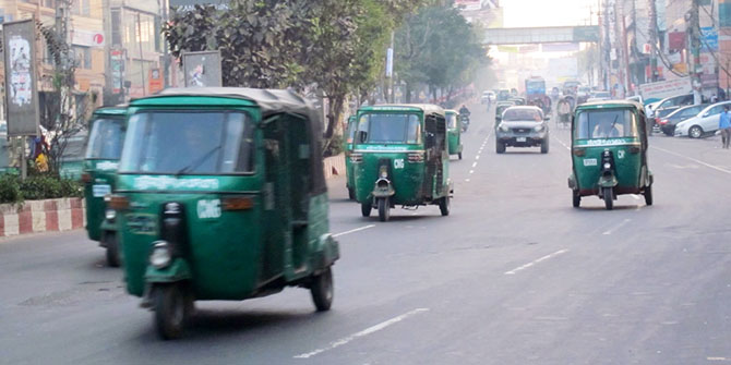 CNG-run auto-rickshaw in Dhaka. Photo: joeliscurious.wordpress.com