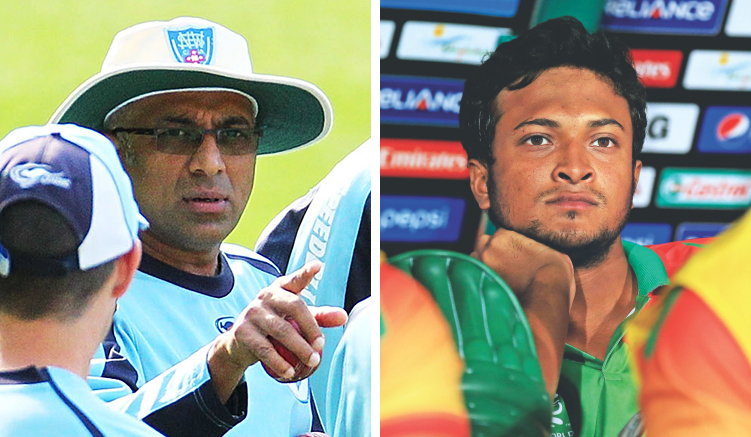 Chandika Hathurusingha and Shakib Al Hasan