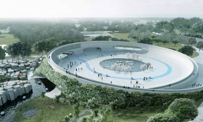 Zootopia … Bjarke Ingels's proposal for a zoo without enclosures. The image is taken from the Guardian website.
