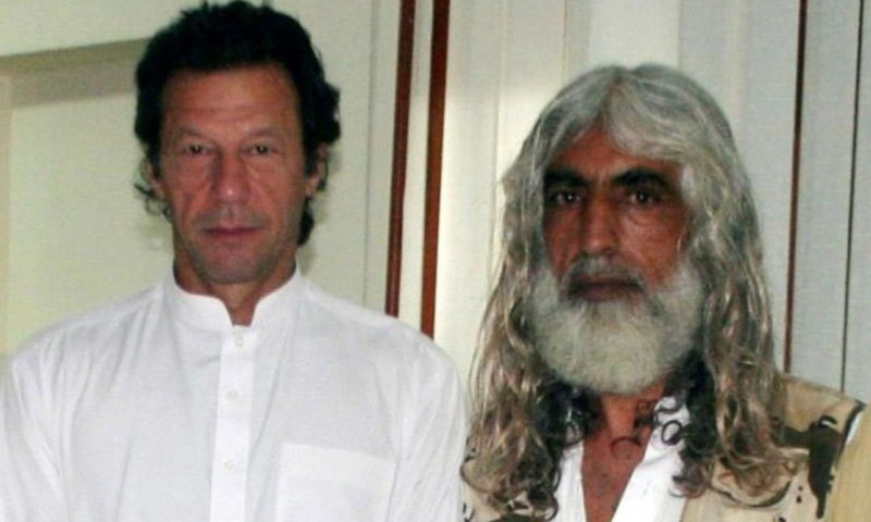 PTI chief Imran Khan with Faqir Jamshed. — Courtesy: Facebook page of Faqir Jamshed
